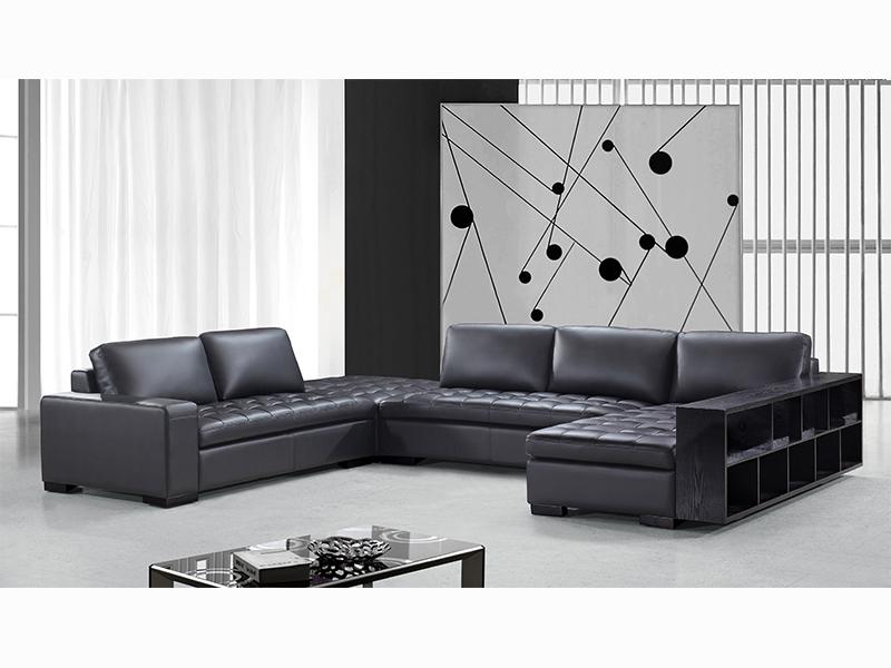 Xxl ecksofa remo sofa couch von salottini wohnlandschaft for Ecksofa mit regal