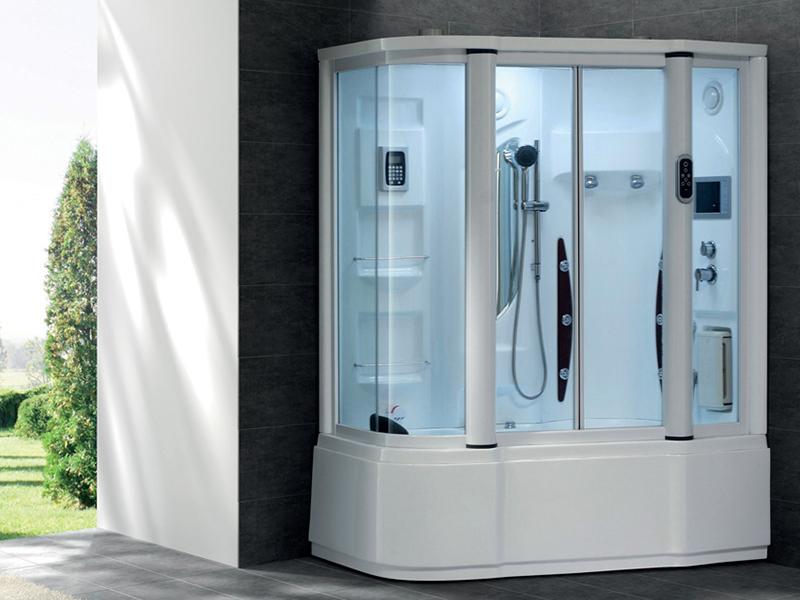 dampfdusche erebus 155x100 duschtempel whirlpool vollausstattung tv ebay. Black Bedroom Furniture Sets. Home Design Ideas