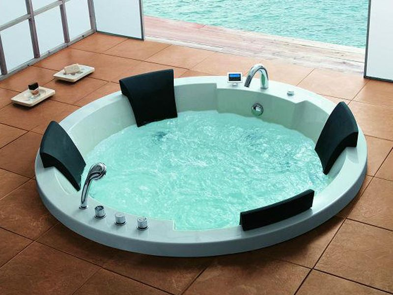 traum xl 4 pers whirlpool montana 183x183 badewanne uvp 4. Black Bedroom Furniture Sets. Home Design Ideas