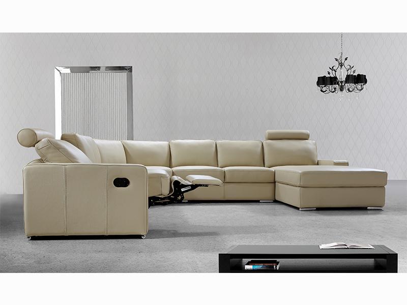 Mega Ecksofa Leder Tomaso Sofa Couch Salottini Wohnlandschaft
